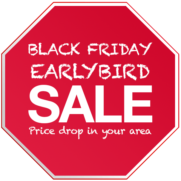 Black Friday Early Bird Sale!