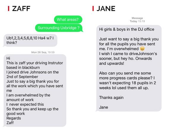 Zaff Text Messages