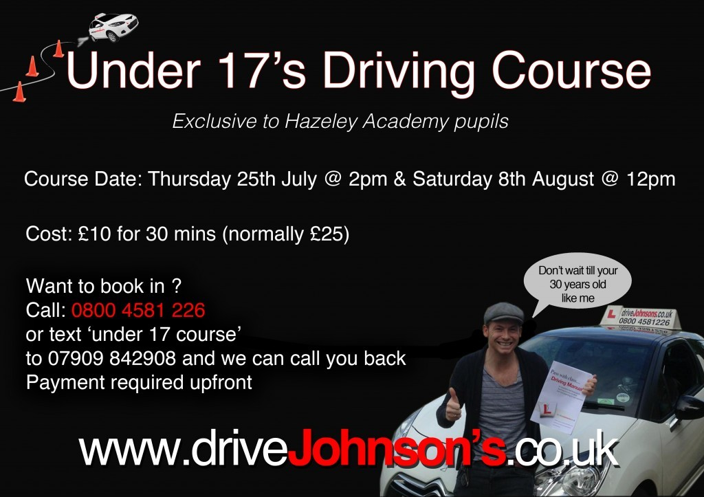 under 17s driving course