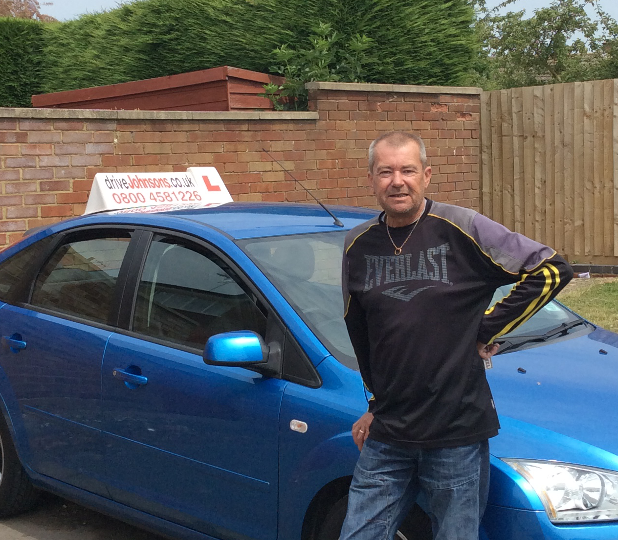 Chris Glazebrook instructor and car