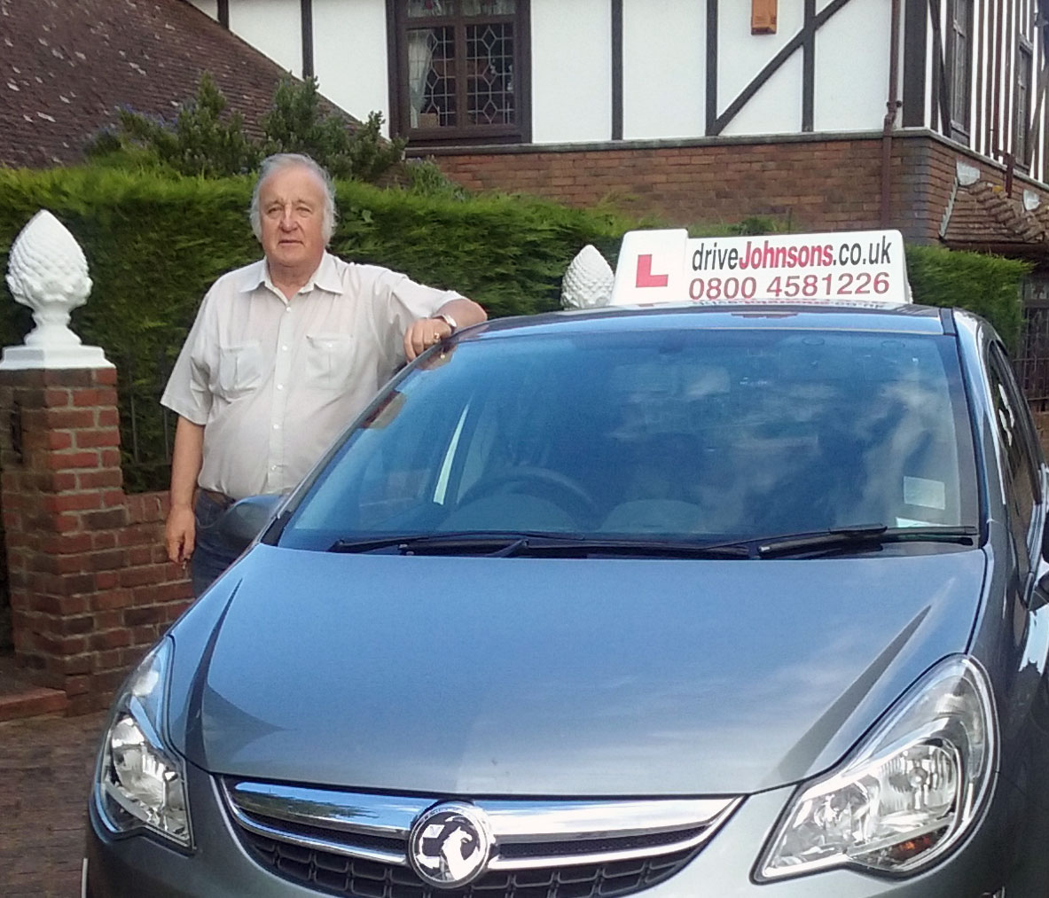 terry boost driving instructor and car