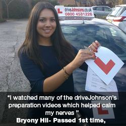 Bryony Hil passes first time