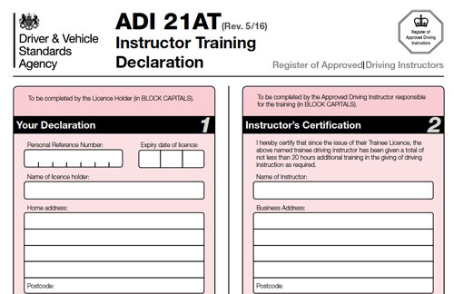21AT Additional Training Form