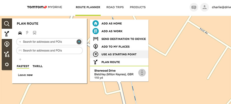 Choosing a starting location on MyDrive
