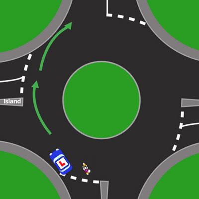 Roundabout Correct Lane Discipline