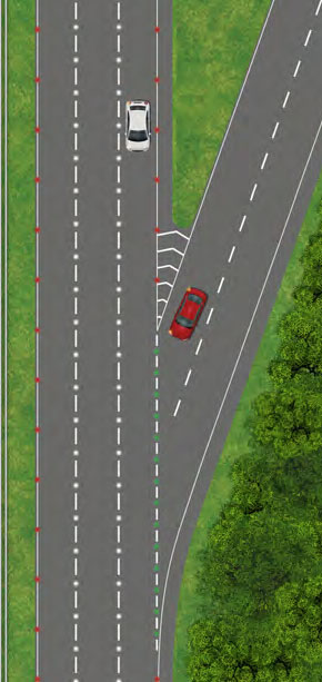 Joining a dual carriageway