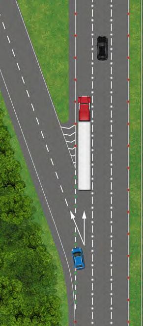 Leaving a dual carriageway