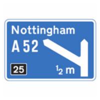 Motorway half mile sign