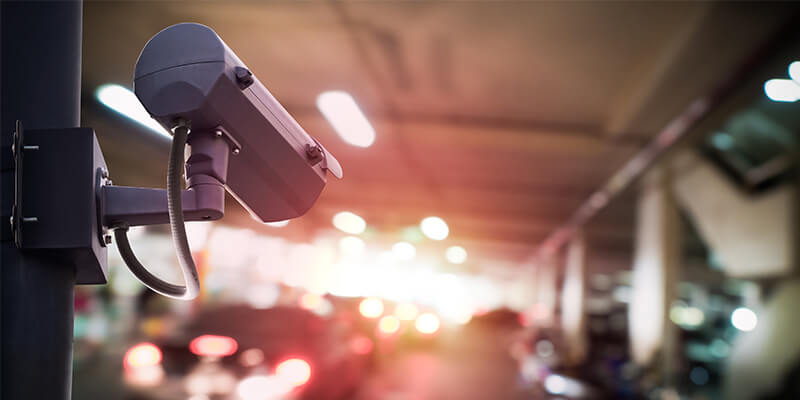 CCTV On A Road