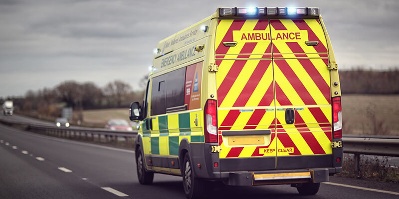 Ambulance On The Motorway