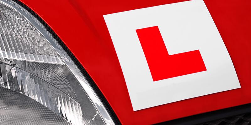 learner sticker on car