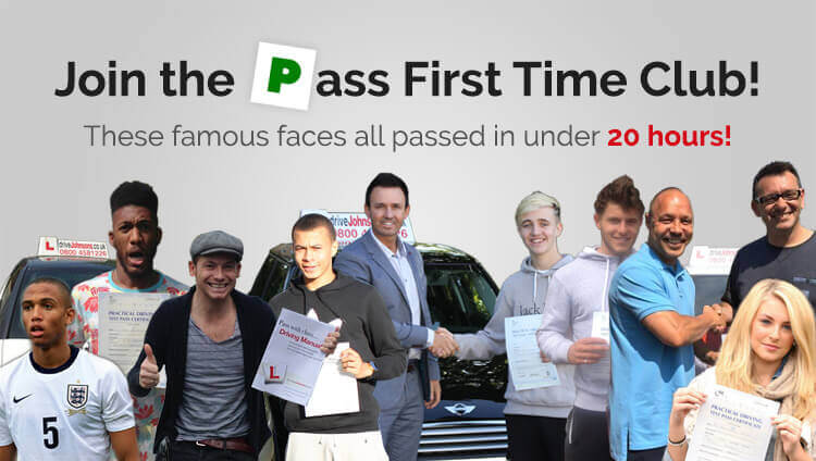 Famous faces who passed their test with driveJohnson's