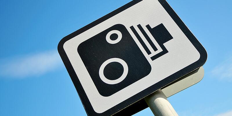 speed camera road sign