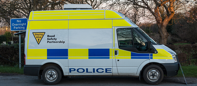 police speed check van